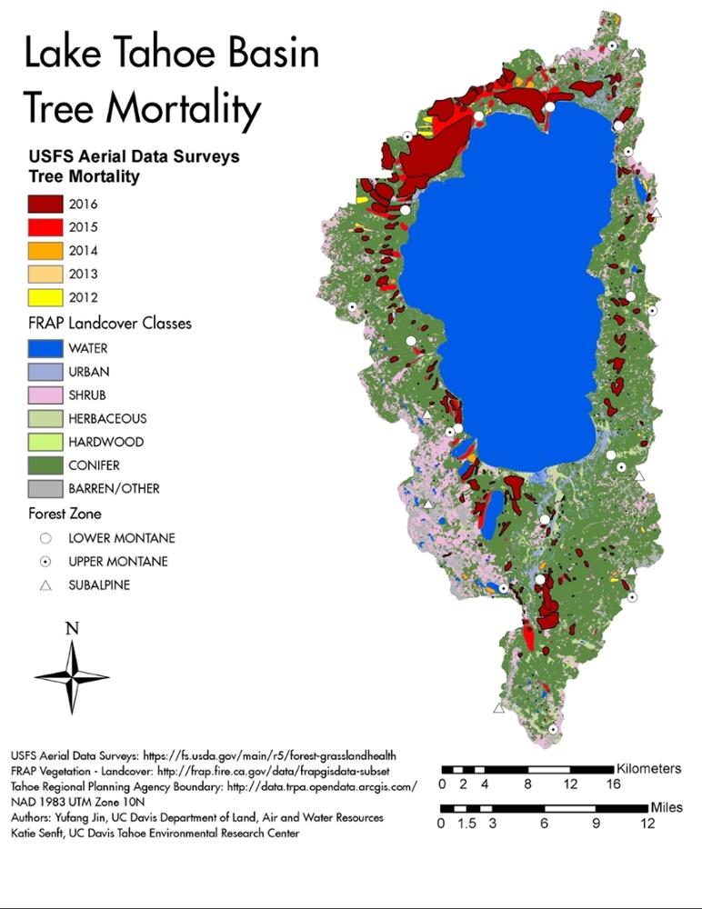 美国太浩湖水温连年升高