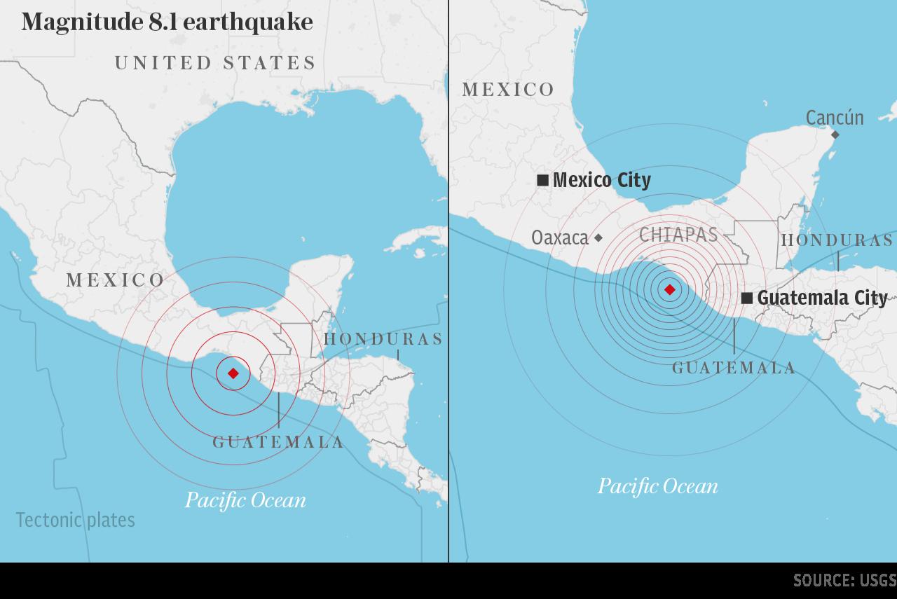墨西哥南部恰帕斯Mw8.1地震 [更新]