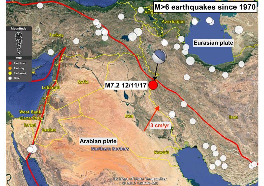 伊拉克和伊朗边界发生大震