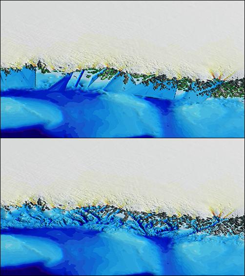 还不相信全球气候变化? 研究表明格陵兰岛的冰川在加速消融