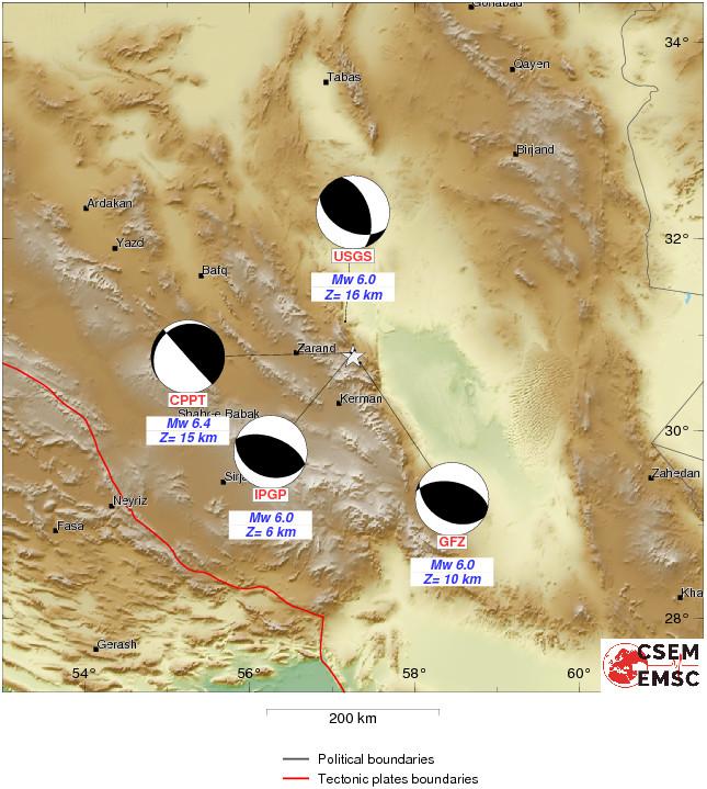 中国地震台网中心: 伊朗 发生6.2级地震