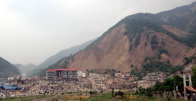 汶川地震北川县王佳岩滑坡