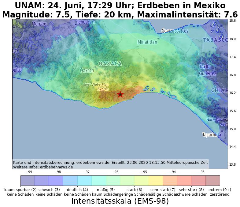 墨西哥南部圣玛丽亚·扎波蒂特兰发生7.4级地震