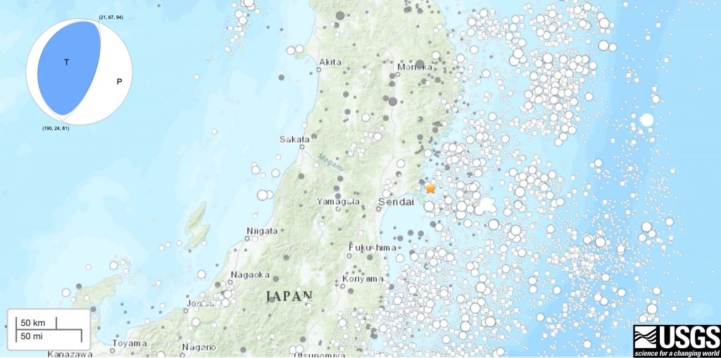 日本东海岸发生7级地震