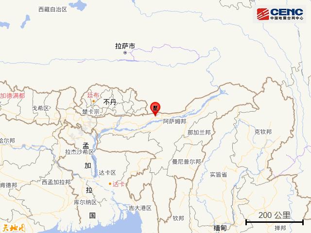 印度北部发生6.2级地震
